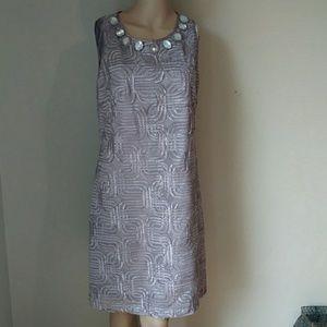 JESSICA HOWARD Sleevless Lined Midi Dress